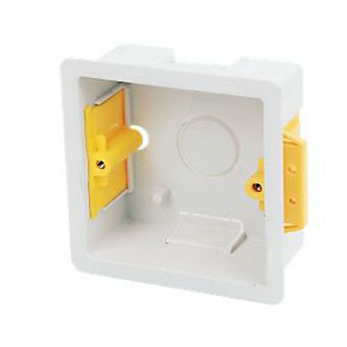 Single Cavity fix box 35mm deep ideal for use in plasterboiard walls pack of 5